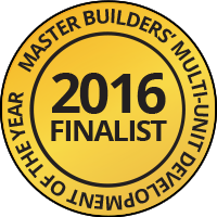 2016 Finalist - Master Builders' multi-unit development of the year
